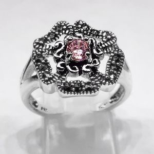 Jewelry - 🎀925 Genuine Mascasite & Pink Sapphire Ring